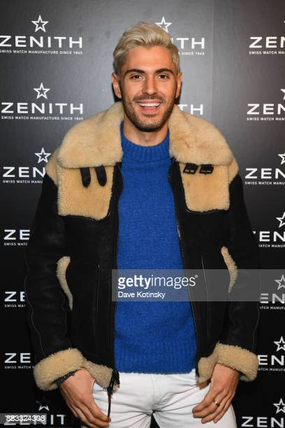 Joey Zauzig attends as Zenith Watches and Swizz Beatz celebrate the launch of The Defy Collection at the Angel Orensanz Center on November 30 2017 in...