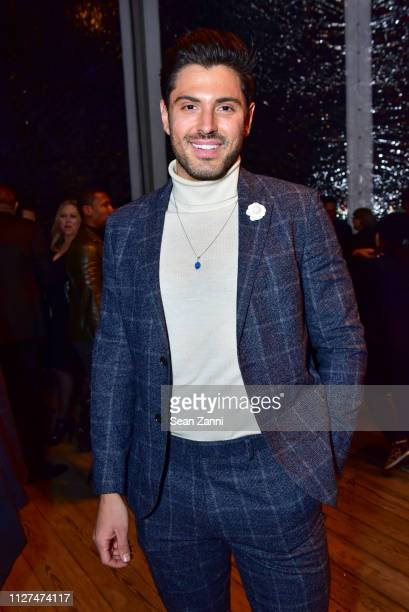 Joey Zauzig attends Joseph Abboud Men's FW19 Runway Show at South Street Seaport on February 04 2019 in New York City