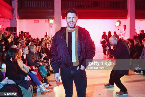 Joey Zauzig attends the R13 show February 2019 New York Fashion Week on February 09 2019 in New York City