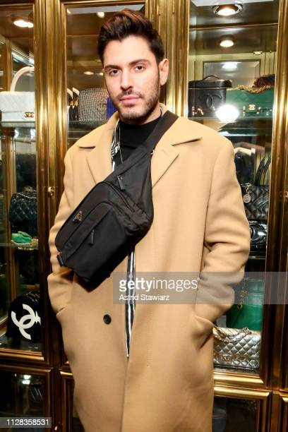 Joey Zauzig attends the What Goes Around Comes Around Madison Avenue Flagship Opening Celebration with Pernod Ricard on February 08 2019 in New York...