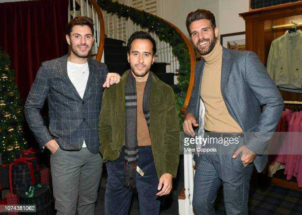 Joey Zauzig Moti Ankari and Christian Bendek attend the Brooks Brothers And St Jude Children's Research Hospital Annual Holiday Celebration In New...