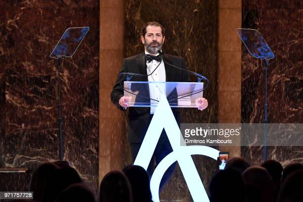 Joey Zwillinger accepts the Breakthrough Award on behalf of Allbirds onstage at the 22nd Annual Accessories Council ACE Awards at Cipriani 42nd...