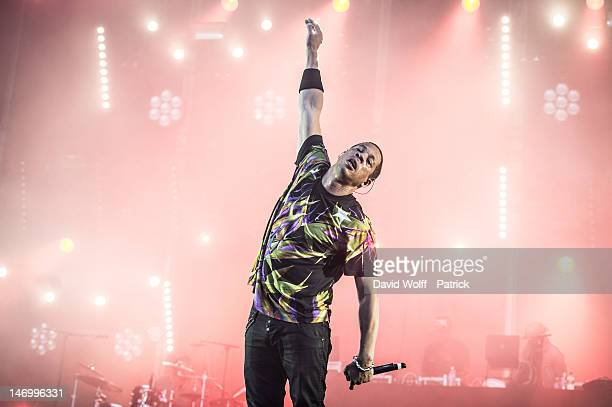 Joeystarr performs at Festival Solidays at Hippodrome de Longchamp on June 24 2012 in Paris France