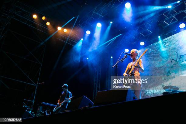 Joff Oddie and Ellie Rowsell of Wolf Alice perform during Electric Picnic 2018 at Stradbally Hall Estate on September 1 2018 in Dublin Ireland