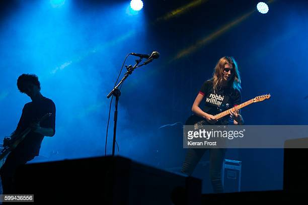 Joff Oddie and Ellie Rowsell of Wolf Alice performs at Electric Picnic at Stradbally Hall Estate on September 4 2016 in Dublin Ireland