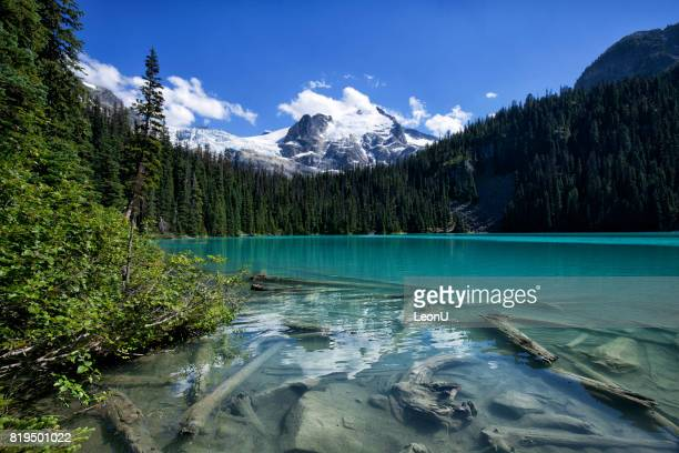 joffre lakes in summer, bc, canada - whistler british columbia stock pictures, royalty-free photos & images