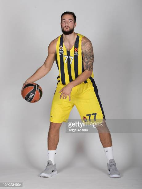 Joffrey Lauvergne #77 of Fenerbahce Istanbul poses during the Fenerbahce Istanbul 2018/2019 Turkish Airlines EuroLeague Media Day at Ulker Sports...