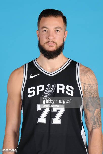 Joffrey Lauvergne of the San Antonio Spurs poses for a head shot during media day in San Antonio Texas at ATT Center on September 25 2017 NOTE TO...