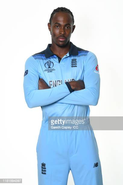 Jofra Archer of England poses for a portrait prior to the ICC Cricket World Cup 2019 at Ageas Bowl on May 24, 2019 in Southampton, England.