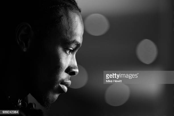 Jofra Archer of Sussex poses for a portrait during a Sussex CCC photocall at The 1st Central County Ground on March 28 2018 in Hove England