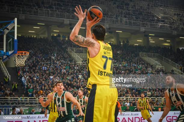Jofrey Lauvergne of Fenerbahce seen in action during the Euroleague basketball game between Panathinaikos BC v Fenerbachce at Olympic Sports Center...