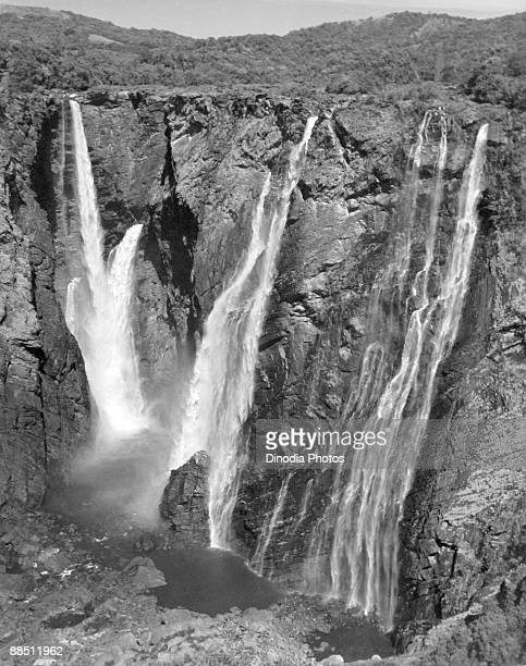 Jog Falls on the Sharavathi River in Karnataka India 1940s At 253 meters they are the highest in India