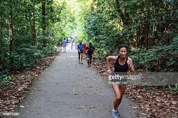 Jogger at Bukit Timah hill