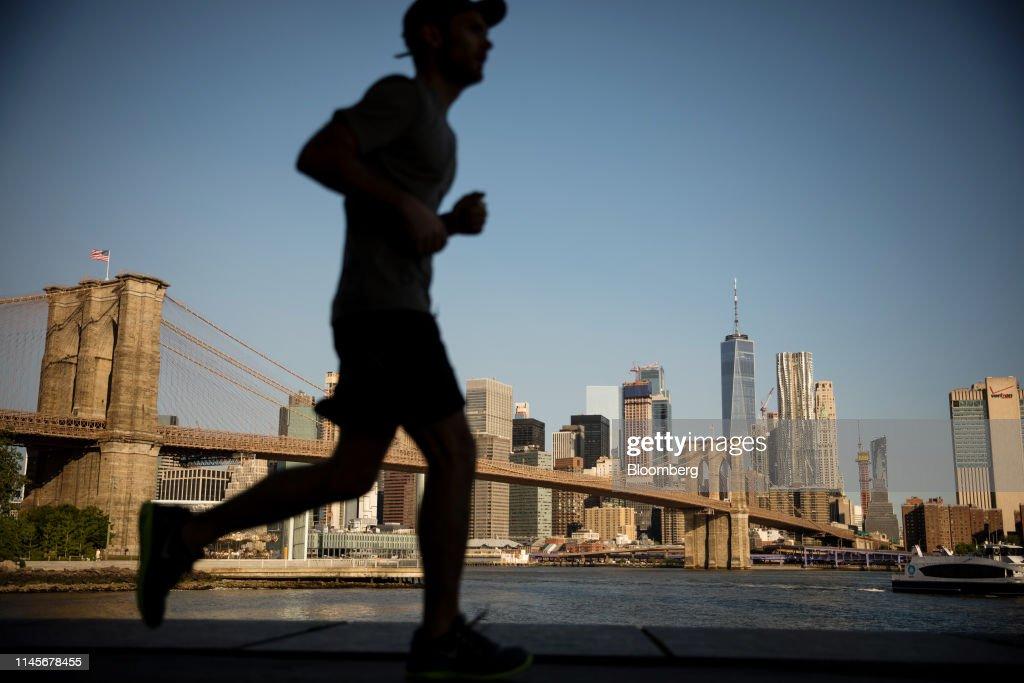 NY: Views Of Manhattan As Trade Worry Drives U.S. Stocks Lower, Boosts Bonds