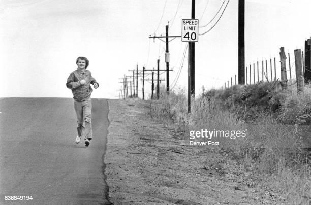 Jogging Colorado 'West Bound' On Orchard Road by Highline Canal Greenwood Village I Believe Credit Denver Post