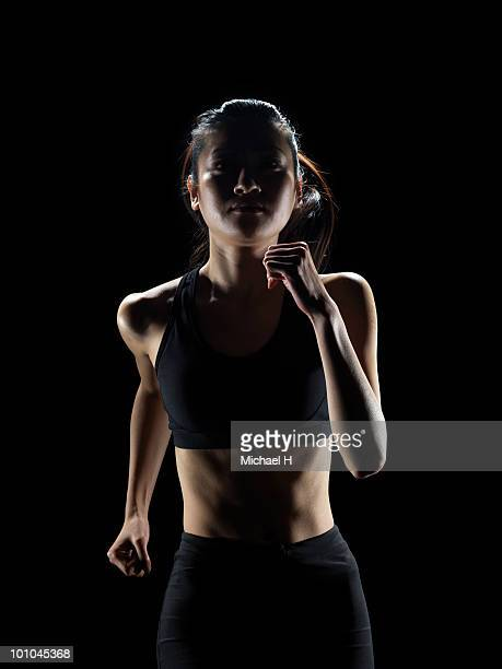 Jogging female athlete
