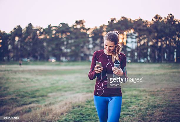 Jogging helps her to clear her mind