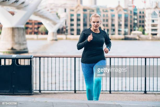 Jogging in London city