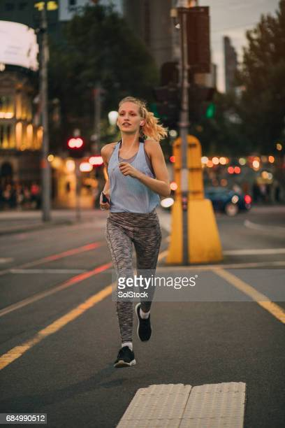 Jogging in Melbourne CBD