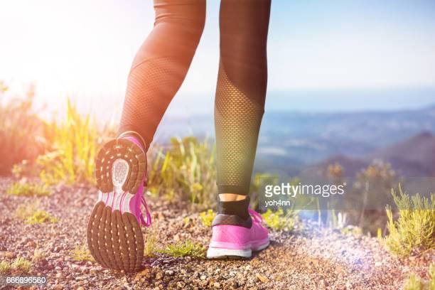 Corriendo en la montañas