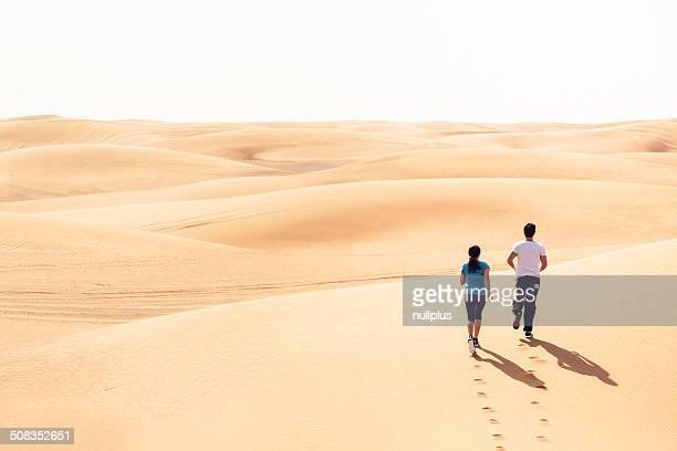 jogging in der Wüste