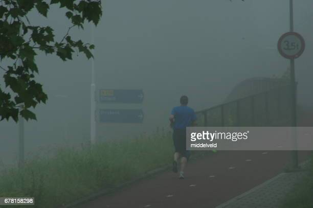 Jogging im the mist