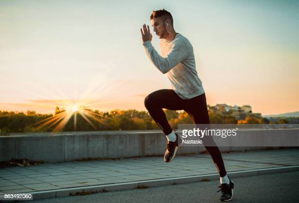 jogging in the morning - sport venue stock pictures, royalty-free photos & images