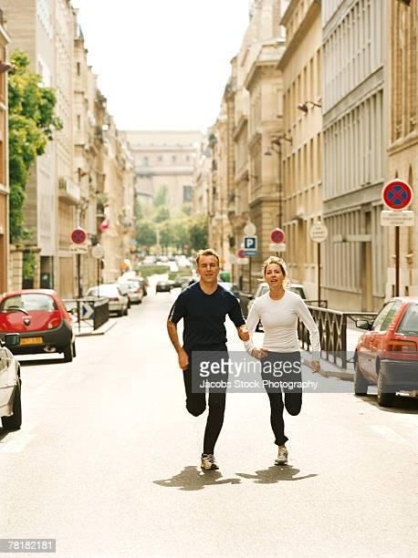 Jogging in the street