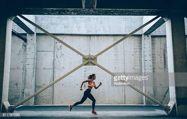 Jogging inside a building