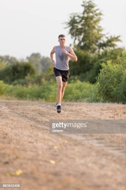 Jogging on dirth path