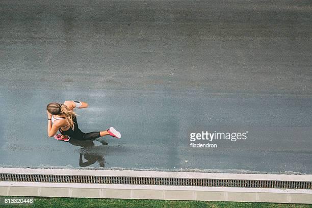 Joggen auf der Straße