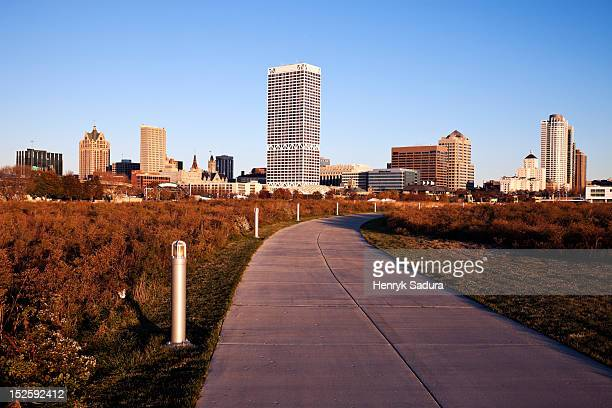 Jogging path in Milwaukee