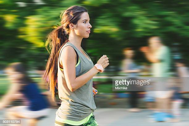 jogging - yoga pants stock photos and pictures