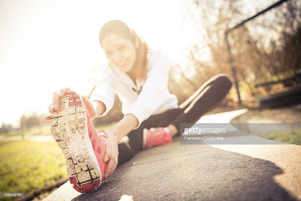 jogging shoes closeup : Stock Photo