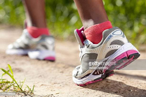 Jogging shoes.