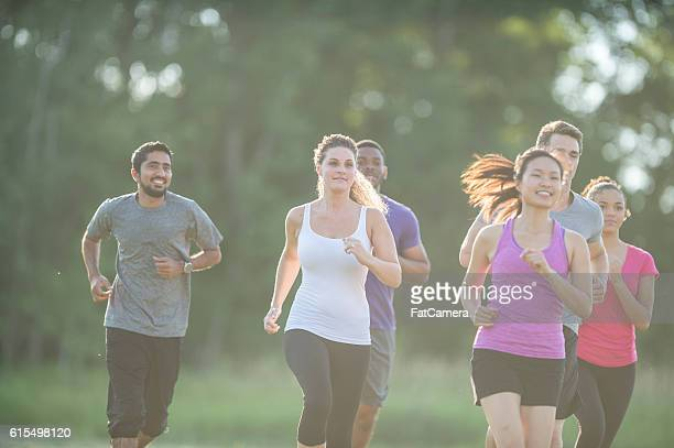 Jogging Together Through the Park