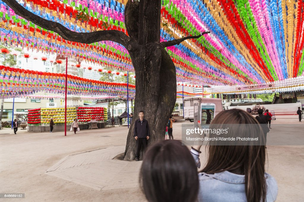 Jogyesa Temple, the temple during the the Lotus Lantern Festival : Stock Photo