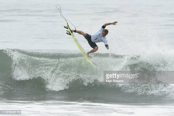 Joh Azuchi of Japan competes during round 1 of the Ready Steady Tokyo - Surfing, Tokyo 2020 Olympic Games test event at Tsurigasaki Surfing Beach on...