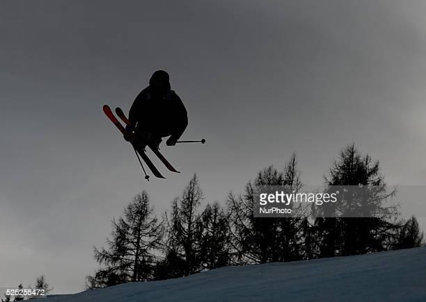 Johan Berg from Norway during Men's Ski Slopestyle Heat 1 qualification round at FIS Freestyle World SKI CHampionships 2015 in Kreischberg Austria 20...