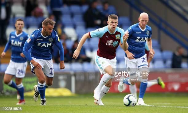 Johan Berg Gudmundsson of Burnley during the PreSeason Friendly between Macclesfield Town and Burnley at Moss Rose on July 20 2018 in Blackburn...