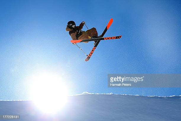 Johan Berg of Norway competes in the FIS Freestyle Ski Slopestyle World Cup Qualifying during day nine of the Winter Games NZ at Cardrona Alpine...