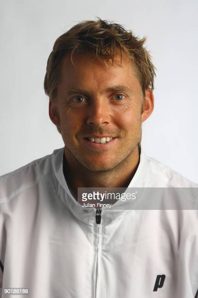 Johan Brunstrom of Sweden poses for a US Open headshot at the USTA Billie Jean King National Tennis Center on August 30 2009 in the Flushing...