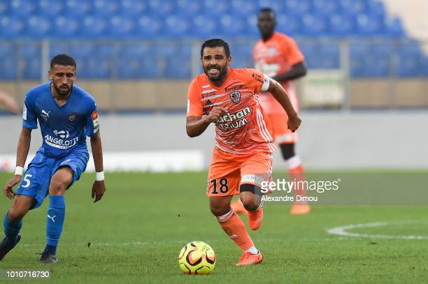 Johan Cavalli of Ajaccio during the French Ligue 2 match between Beziers and AC Ajaccio at Stade de la Mediterranée on August 3 2018 in Beziers France