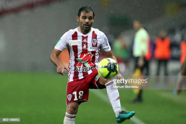 Johan Cavalli of Ajaccio during the Ligue 1 playoff match between Toulouse and AC Ajaccio on May 27 2018 in Toulouse France