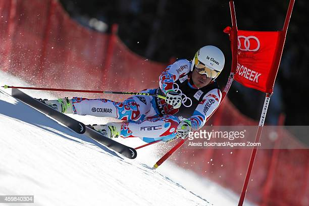 Johan Clarey of France competes during the Audi FIS Alpine Ski World Cup Men's Downhill Training on December 02 2014 in Beaver Creek Colorado