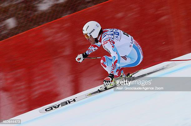 Johan Clarey of France during the Audi FIS Alpine Ski World Cup Men's Downhill on November 30 2013 in Lake Louise Canada