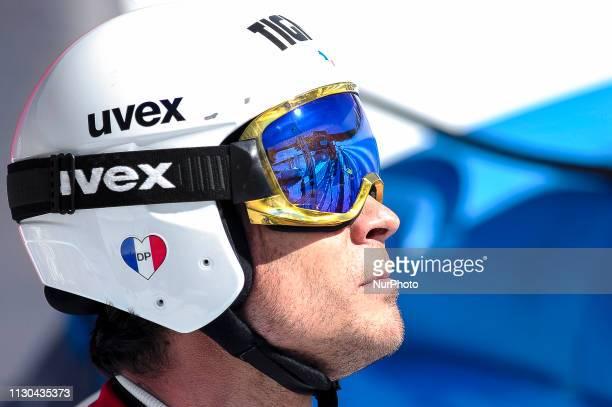 Johan Clarey of France Ski Team during Mens SuperG Audi FIS Ski World Cup race on March 14 2019 in El Tarter Andorra