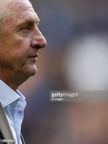Johan Cruijff during the Dutch Eredivisie match between Ajax Amsterdam and SC Heerenveen at Amsterdam Arena on february 16, 2014 in Amsterdam, The...