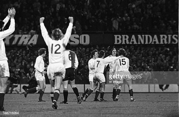 Johan Cruijff of Ajax during the Dutch Eredivisie match between Feyenoord and Ajax at de Kuip on april 15 1972 in Rotterdam The Netherlands