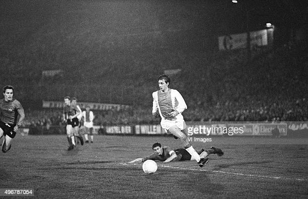 Johan Cruijff of Ajax during the Europa Cup 1 match between Ajax and 1 FC Nurnberg on october 2 1968 in Amsterdam the Netherlands